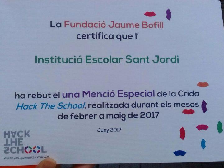 Menció especial a la Crida Hack the School!