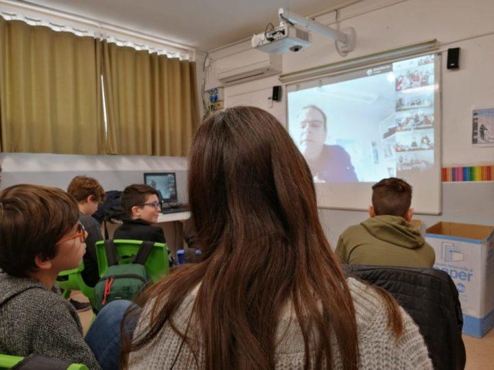 Teleconferència amb l'Antàrtida