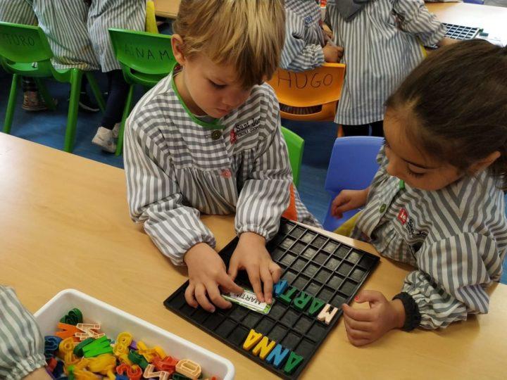 Aprenem en equip les lletres del nostre nom!