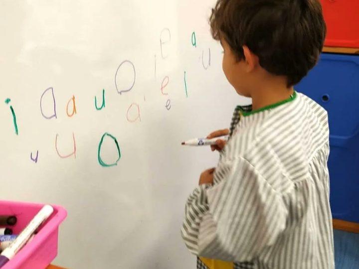 Practiquem la grafia de les vocals a P5